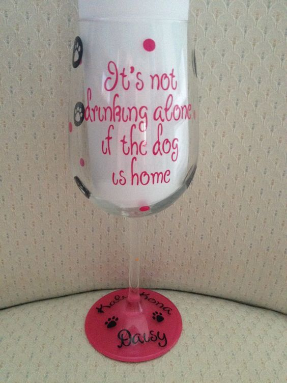 A personal favorite from my Etsy shop https://www.etsy.com/listing/222391724/dog-wine-glass-custom-personalized-wine