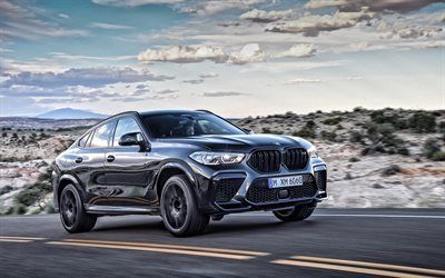 Download Wallpapers Bmw X6 M Competition 2020 4k Front View