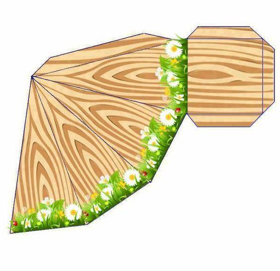 Tronco de árvore triângulo