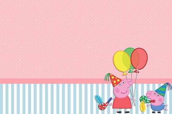 Fazendo a Minha Festa!: Peppa Pig - Kit Completo com molduras para convites, rótulos para guloseimas, lembrancinhas e imagens!