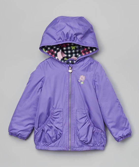 Loving this London Fog Purple Flower Jacket - Infant, Toddler & Kids on #zulily! #zulilyfinds