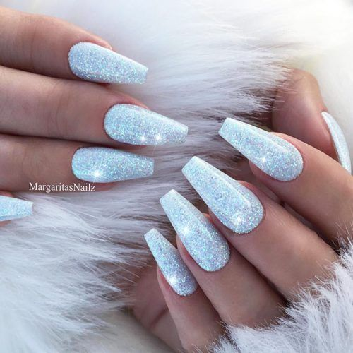 Fantastic Shimmer Nails That Will Steal Your Breath Away Sparkly Acrylic Nails Blue Glitter Nails Acrylic Nails Coffin Glitter