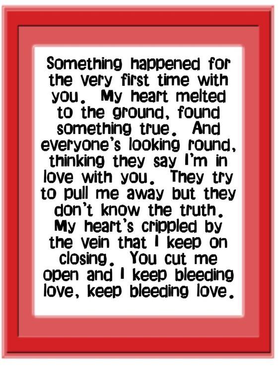Leona Lewis - Bleeding Love Lyrics | SongMeanings