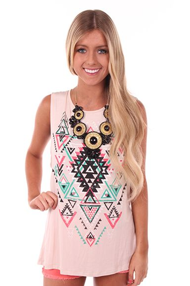 Lime Lush Boutique - Aztec Tank with Open Back, $22.99 (http://www.limelush.com/aztec-tank-with-open-back/)