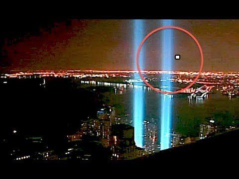 ORB UFO STRANGE LIGHTS 9/11 TOWER OF LIGHTS (ENHANCED) 9.11.2013