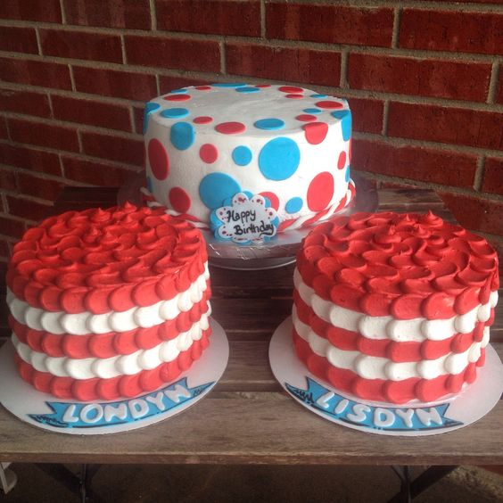 Cat In The Hat Birthday Cake With Smash Cakes January