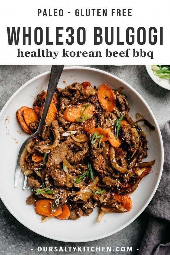 Whole30 Bulgogi (Healthy Korean Beef BBQ)