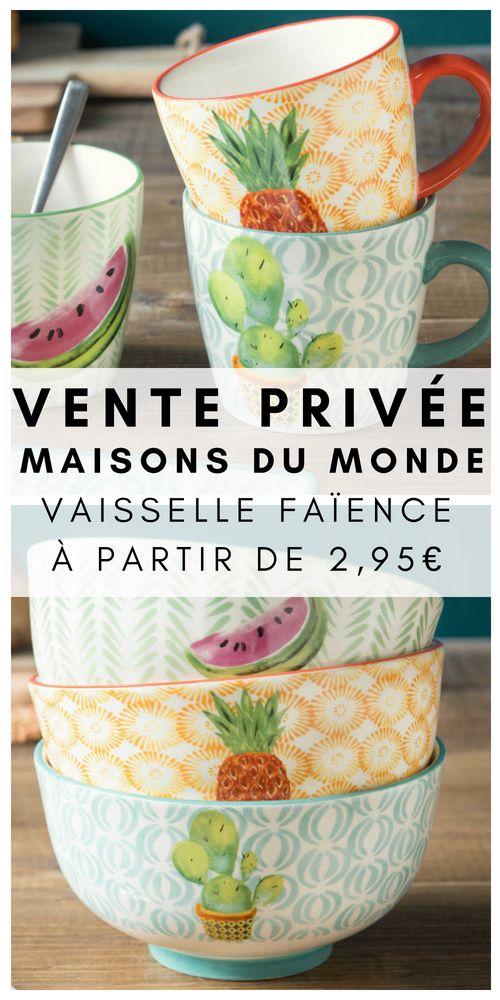 Maisons Du Monde Lance Ses Ventes Privees De L Ete 2020 Maison Du Monde Vaisselle Maison Du Monde Vaisselle