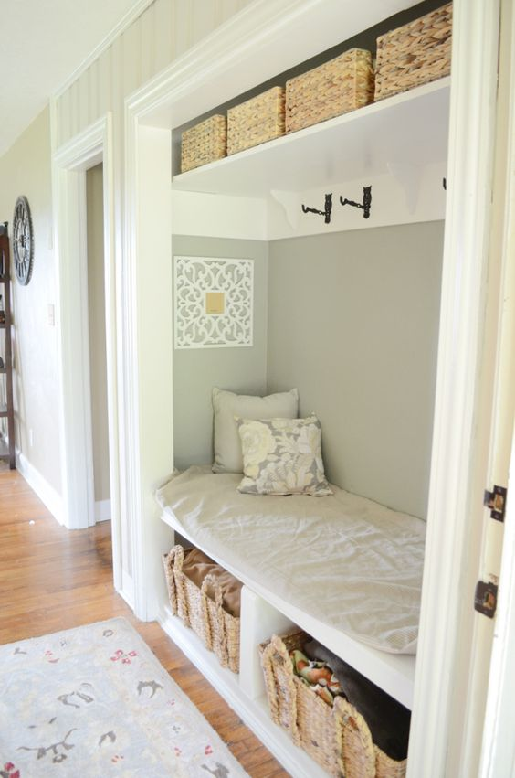 Foyer Mudroom House : Entry closet and transformation on pinterest