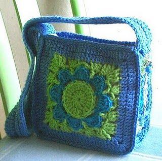 love big granny bag in blue