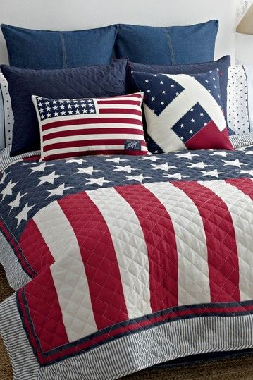 Tommy Hilfiger Bedding on HauteLook anything red, white and blue says I'm proud to be an American...: