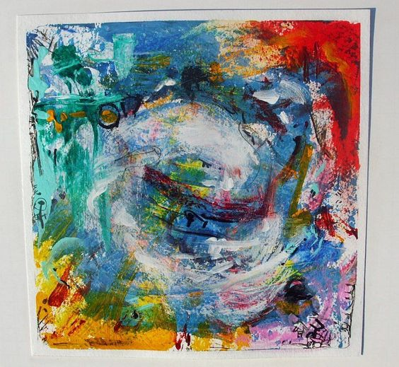 Abstract Expressionist Original Painting Billette Acrylic
