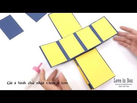 Cach Lam Popup Card Chi Tiết Love Box Exploding Box Tutorial Diy Crafts Scrapbook Ideas Youtube Diy Crafts Scrapbook Diy Exploding Box Diy Book