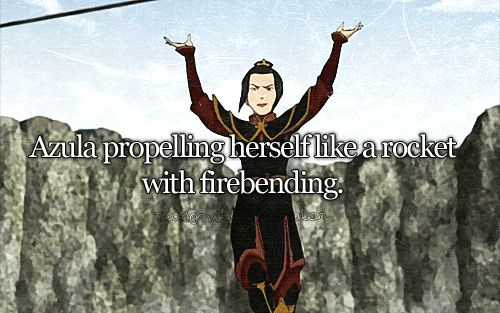 Hipster Azula turned herself into a rocket before General Iroh made it cool.