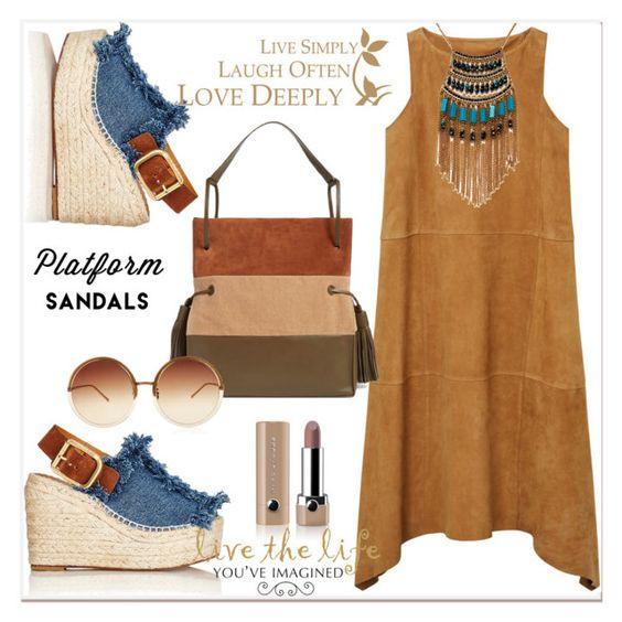 """platform sandals..."" by nihal-imsk-cam ❤ liked on Polyvore featuring Chloé, MANGO, Leslie Danzis, AllSaints, Linda Farrow, Marc Jacobs, platform and SANDAL"