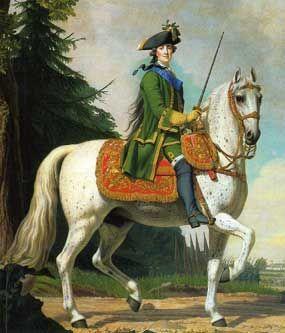 'Portret van Catharina de Grote te paard', 1762 / Vigilius Ericksen (1722-1782).