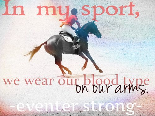 Eventing will always be one of the most dangerous sports out there... But that's what's so good about it ❤️
