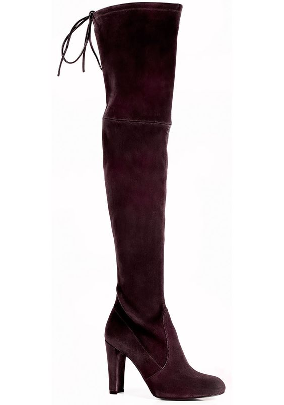 Women&39s Purple Highland Suede Over-The-Knee Boots | Bordeaux Wine