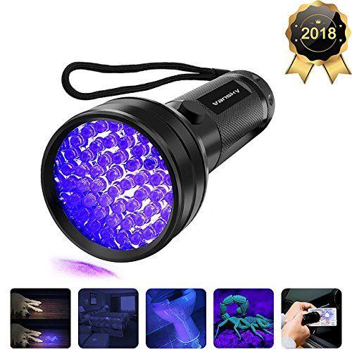Loftek 51 Leds 390-395 Nm Ultraviolet Blacklig 2-Pack Uv Flashlight Black Light