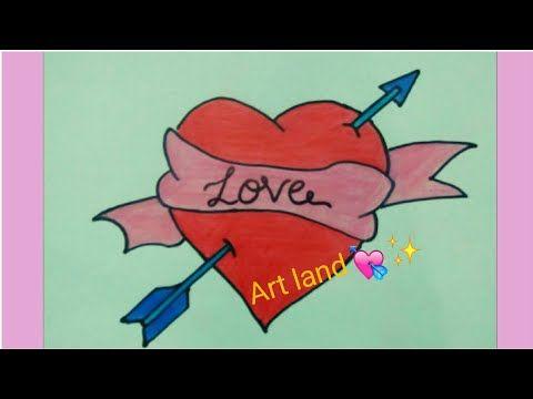 رسم قلب رمح سهم خطوه بخطوه رسم قلب بسيط وجميل لعيد الحب Arrow In Heart Drawing For Valentine S Day Youtube Easy Drawings Art Drawings