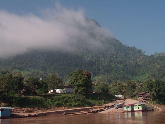 Zona montañosa en el norte de Laos.
