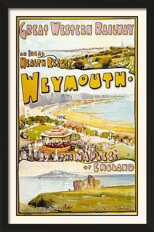 1900/'s LSW Railway Weymouth Tourism Poster A3 Reprint