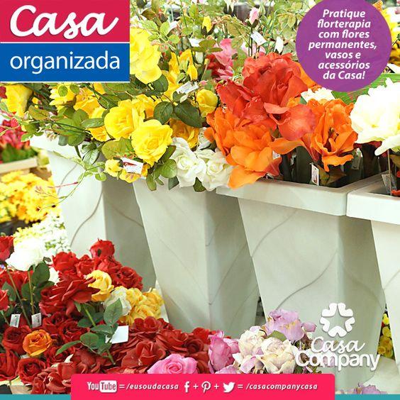 Pra não dizer que não falamos de flores... aproveite o finds e encante a sua Casa com flores... permanentes, coloridas, cheias de charme! Capriche, organize, floresça a sua imaginação com flores e aquele abraço da equipe Casa Company! Bjkas! www.facebook.com/...