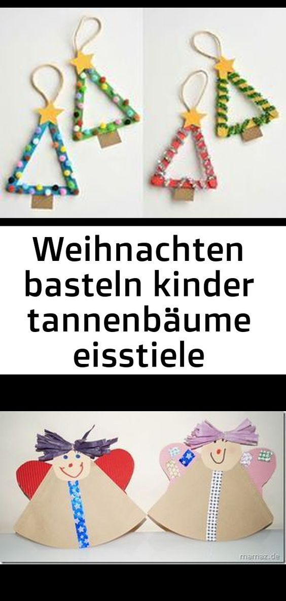 Weihnachten Basteln Kinder Tannenbaume Eisstiele Baumschmuck 2 Christmas Ornaments Novelty Christmas Holiday Decor