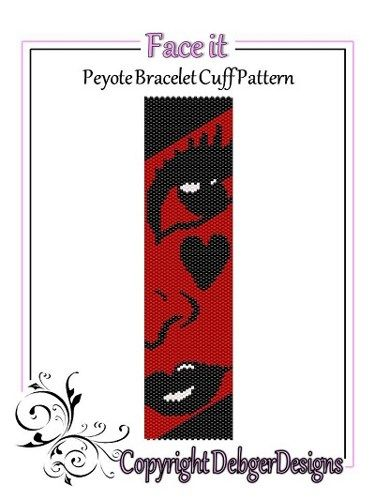 Face It - Beaded Peyote Bracelet Cuff Pattern | DebgerDesigns - Patterns on ArtFire