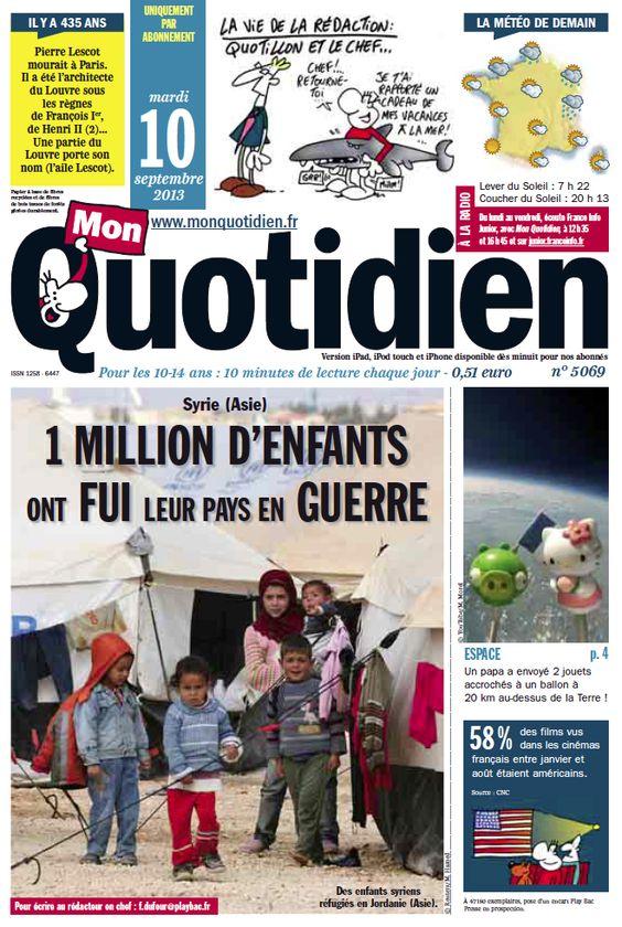 Mon Quotidien - Le seul site quotidien d'information pour les 10-14 ans !