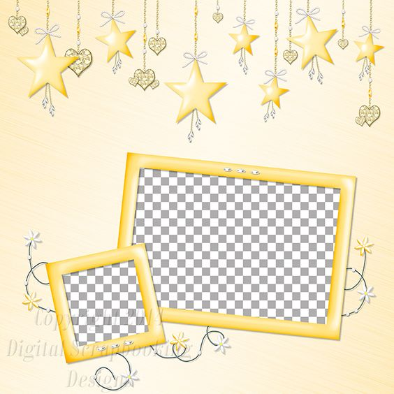 """Layout QP 2D-4 CAFS…..Quick Page, Digital Scrapbooking, Catch A Falling Star Collection, 12"""" x 12"""", 300 dpi, PNG File Format"""