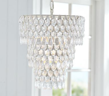 "Ruby Chandelier. $129. This is in the pottery barn summer catalog, but online says ""no longer available""   :-(:"