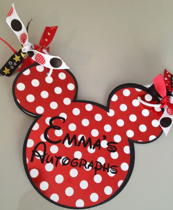 Handmade Custom Disney Autograph Book by ThreePaperTulips on Etsy, $15.00