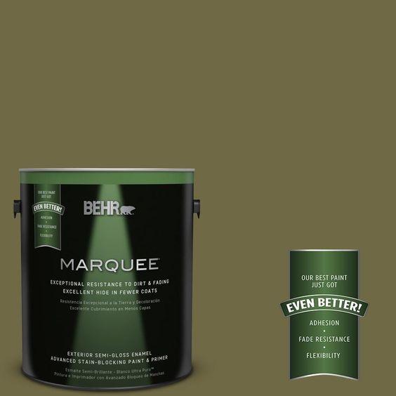 BEHR MARQUEE 1-gal. #390F-7 Wilderness Semi-Gloss Enamel Exterior Paint