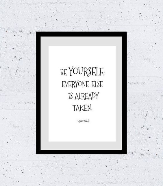 Printable, Inspirational, Quotes, Print, Illustration, Life Quote, Be Yourself, by Wilde, Wall Art, Instant Download, Quote Posterby AskIlariaRomeo Etsy.com/askilariaromeo Only 3,99$