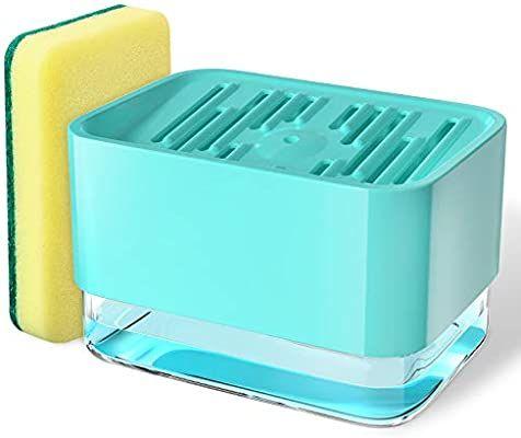 Amazon Com Geemai Soap Dispenser For Kitchen Sink Sponge Holder 2 In 1 Soap Pump Dispenser Hollow Design P Dish Soap Dispenser Soap Pump Dispenser Soap Pump