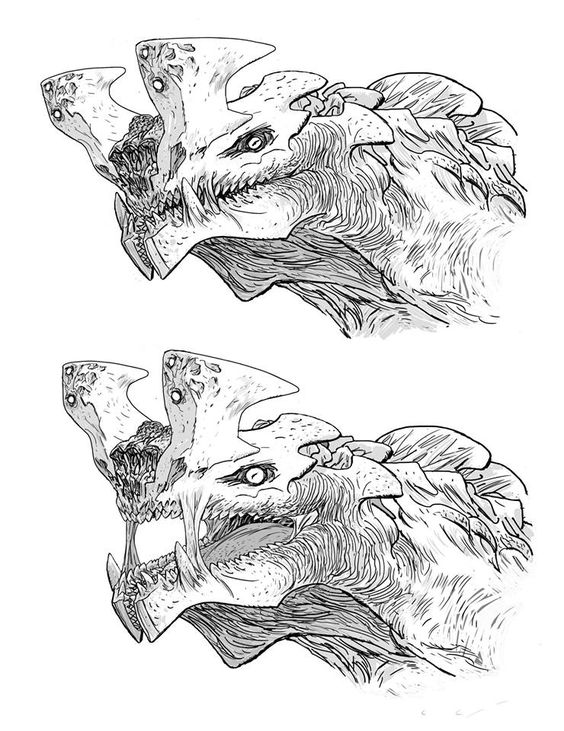 Pacific Rim Kaiju concept art: Otachi by Guy Davis  I may or may not have an Otachi stuffed animal. Definitely maybe. She's such a badass. Evil, but definitely badass.