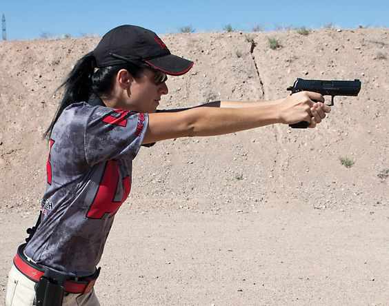 """Congratulations to Maria Harbin who won """"High Lady"""" at the 4th Annual Factory Gun Classic!!!   - HK Pro Shooting Team"""
