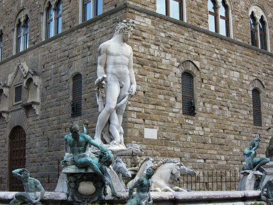 The very studly Neptune in Signorina Square in Florence.