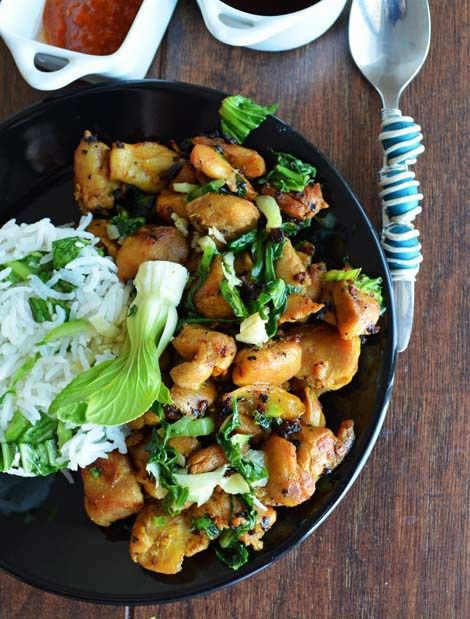 Sauteed Chicken with Bok Choy Recipe: