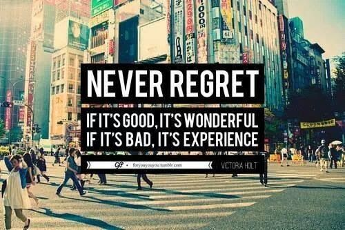 Never Regret!!!