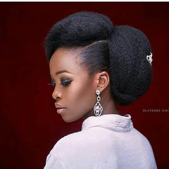 40 Different Ways To Style Your Natural Hair At Home Thrivenaija Natural Hair Wedding Natural Hair Pictures Natural Hair Bride