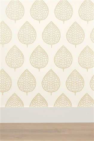 Buy Layered Leaf Gold Wallpaper from the Next UK online shop