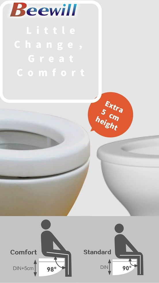 Increase 5 Cm Increase The Feeling Of Sitting The Raised Toilet