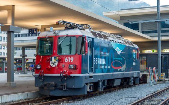 Rhätische Bahn, RhB Ge 4/4 II 619, Stabled in the bay platform at Chur