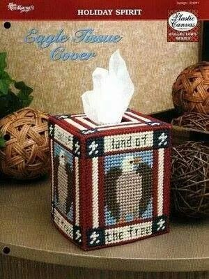 Eagle Tissue Box Cover 1/2