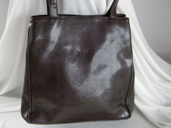 Desmo Firenza Brown Faux Leather Purse Made In Italy  #Desmo #ShoulderBag
