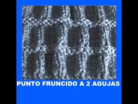 Punto fruncido a 2 agujas tricot