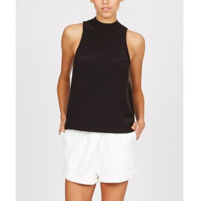 The Fifth Just For Now Sleeveless High Neck top in Black