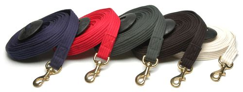 cotton lunge line for CC, navy, grey, or black